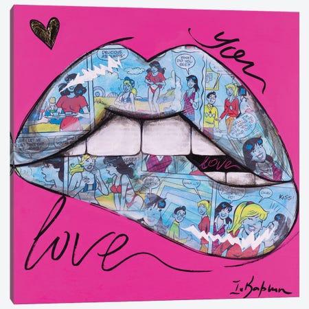 Biting Lips II Canvas Print #IKA47} by Iness Kaplun Art Print