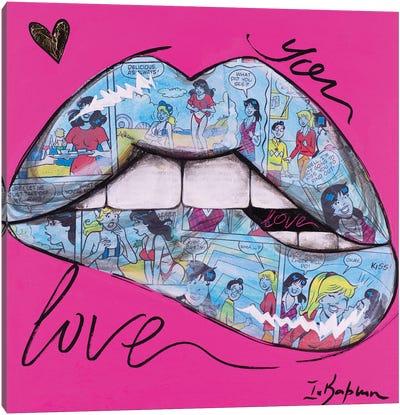 Biting Lips II Canvas Art Print