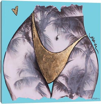 Blue Palm Tree You Canvas Art Print
