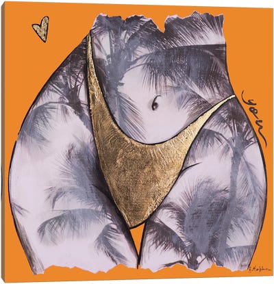 Orange Palm Tree You Canvas Art Print