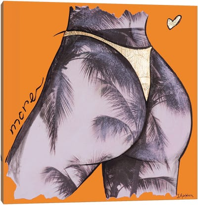 Orange Palm Tree More Canvas Art Print