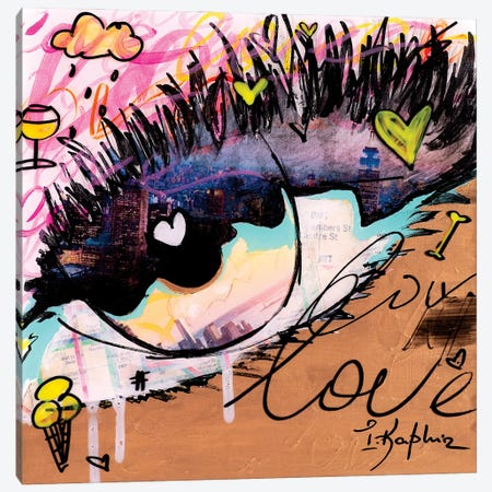 Love NY Canvas Print #IKA5} by Iness Kaplun Canvas Wall Art