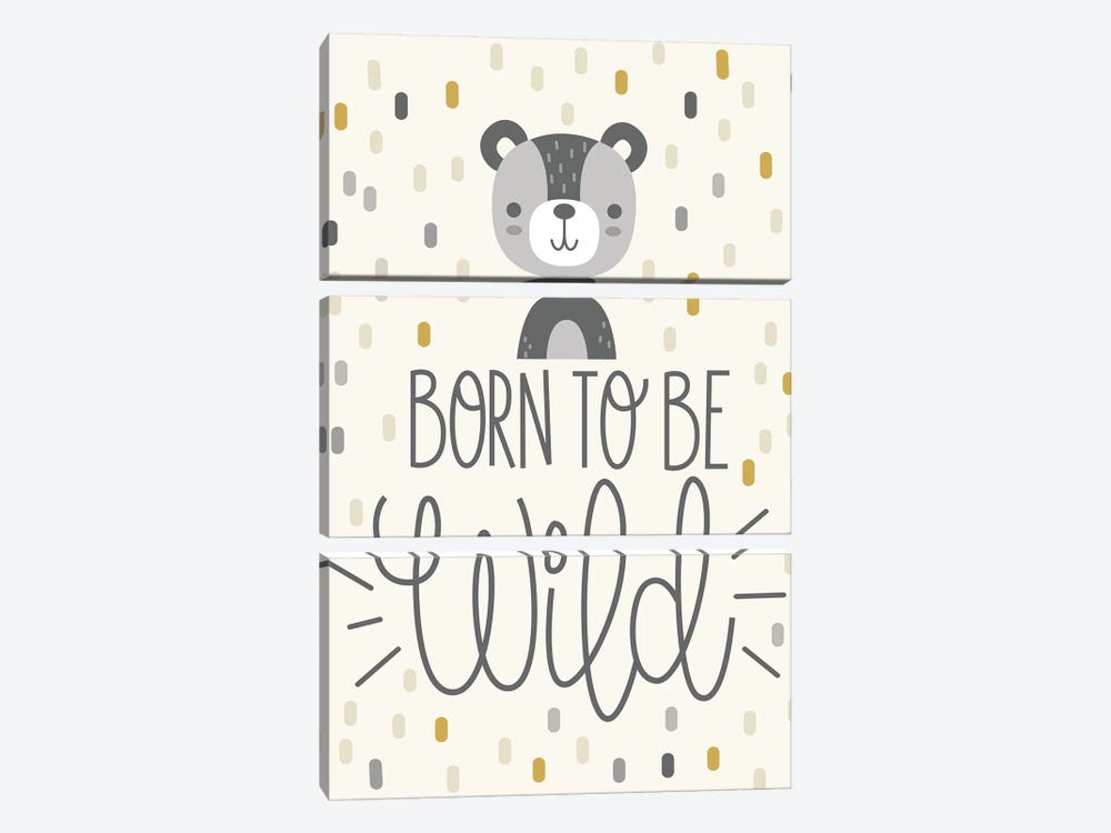 Cute And Wild III by Ilis Aviles 3-piece Canvas Artwork