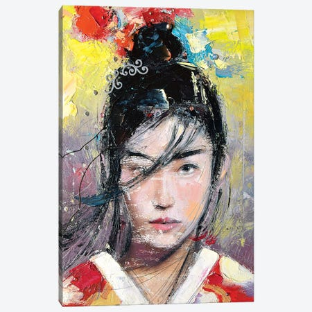 Asian Girl (L'une 68-3) Canvas Print #ILC30} by Catalin Ilinca Canvas Wall Art