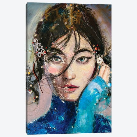 Asian Girl (L'une 79-2) Canvas Print #ILC35} by Catalin Ilinca Art Print