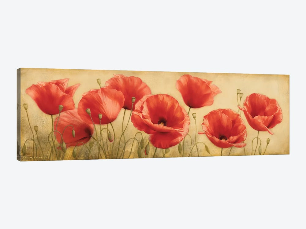 Poppies Grace I by Igor Levashov 1-piece Canvas Print