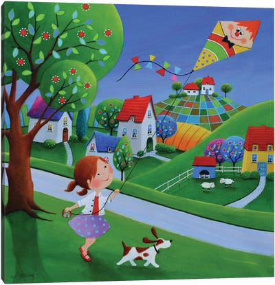 Happy Kiting Day Canvas Art Print