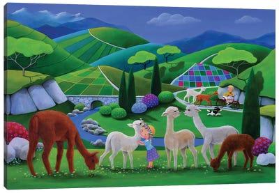 Camilla's Wooly World Canvas Art Print