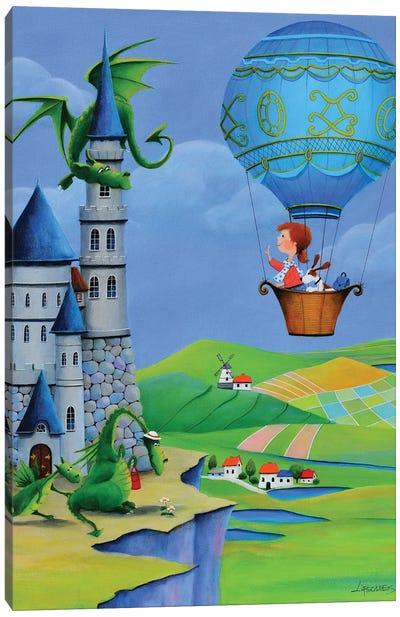 The Castle Of Emerald Dragons Canvas Art Print