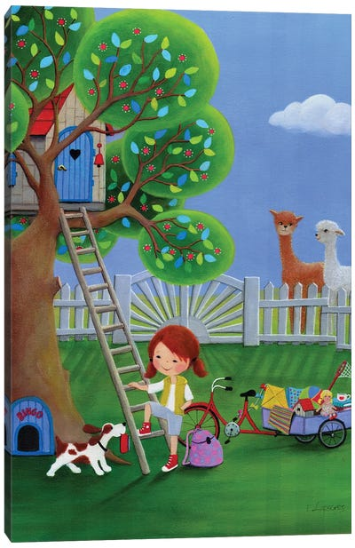 Spring In New Tree House Canvas Art Print