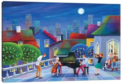 Jazzy Night Canvas Art Print