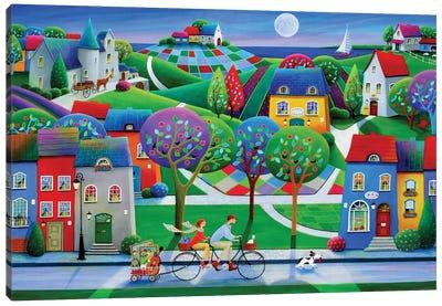 On The Way To Saumur Canvas Art Print