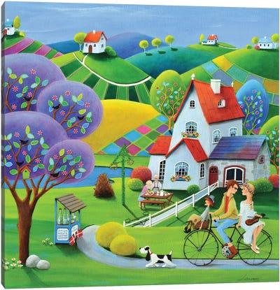 Midsummer With Grandpa Canvas Art Print