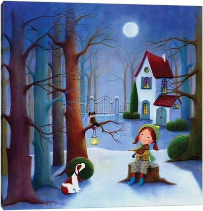 The Frosty Concert Canvas Art Print