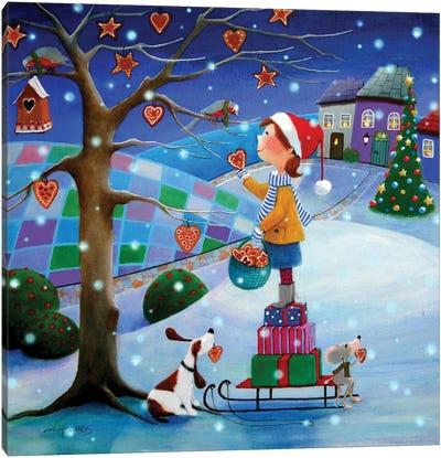 Ginger Christmas Canvas Art Print