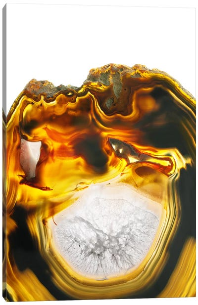 Amber Lava Canvas Art Print