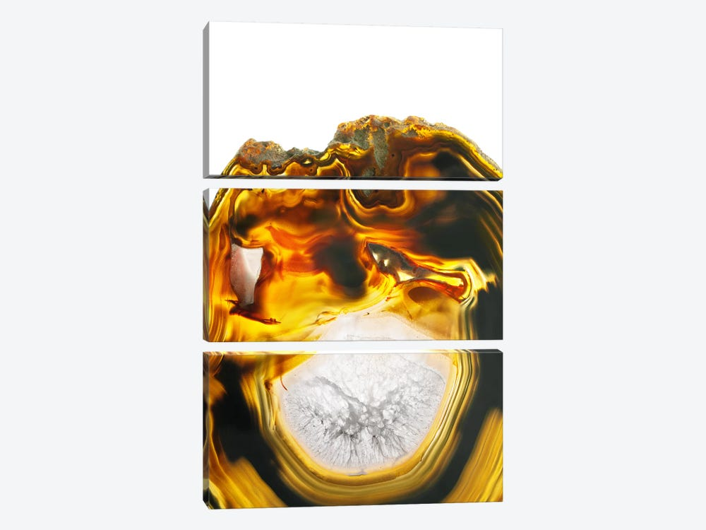 Amber Lava 3-piece Canvas Art Print