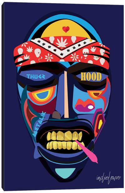 Emo Mask Canvas Art Print