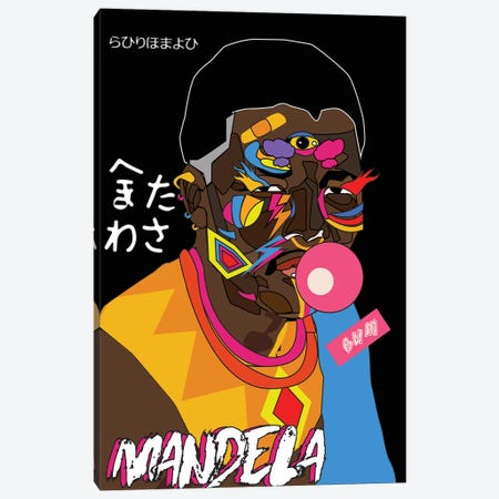 Mandela Canvas Print #ILO17} by Indie Lowve Canvas Art Print