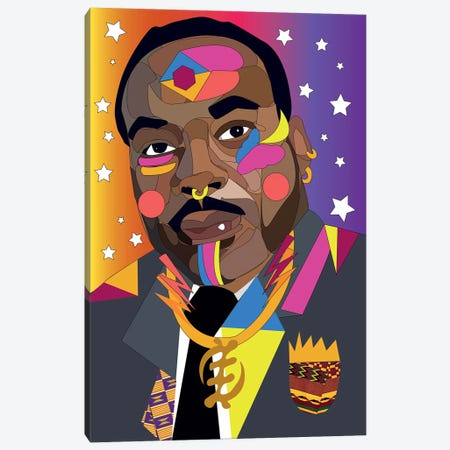 MLK Canvas Print #ILO20} by Indie Lowve Art Print