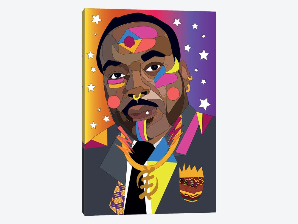 MLK by Indie Lowve 1-piece Canvas Wall Art