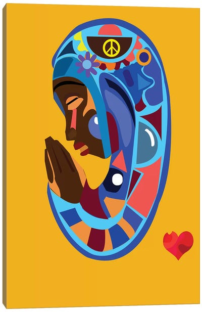 Vierge Bleu Canvas Art Print