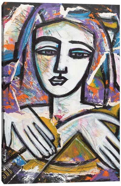 Modern Mona Canvas Art Print