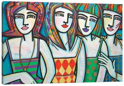 Colorful Company Canvas Art Print