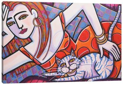 Tiger Cat Canvas Art Print