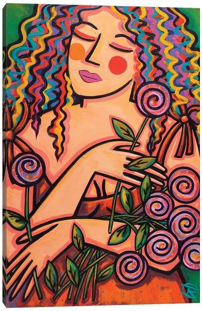 Fresh Cut Flowers Canvas Art Print