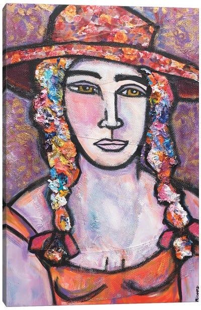 Floral Hat Canvas Art Print