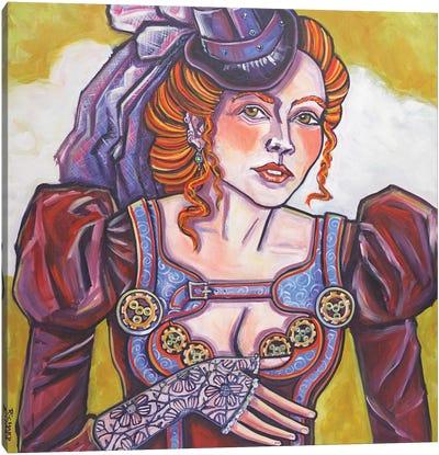 Steampunk Beauty Canvas Art Print