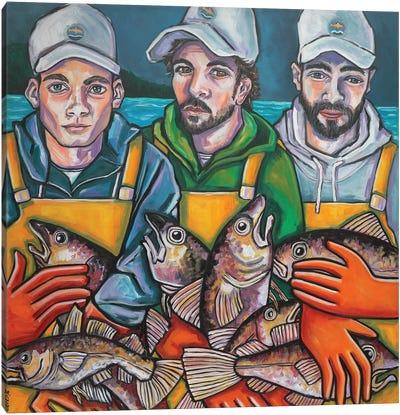Daily Catch Canvas Art Print