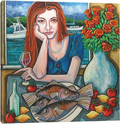 Still Life In Gloucester Canvas Art Print