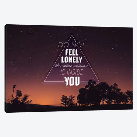 Lonely Canvas Print #ILS11} by 5by5collective Canvas Artwork
