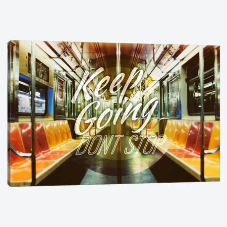Keep Going Canvas Print #ILS13} by 5by5collective Canvas Artwork
