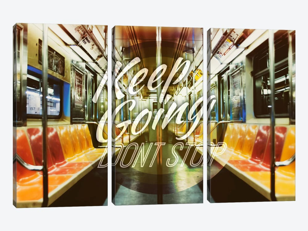 Keep Going by 5by5collective 3-piece Art Print