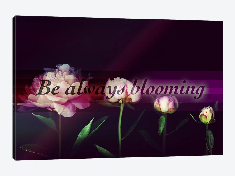 Always Blooming by 5by5collective 1-piece Canvas Artwork