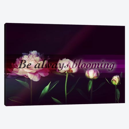 Always Blooming Canvas Print #ILS14} by 5by5collective Art Print