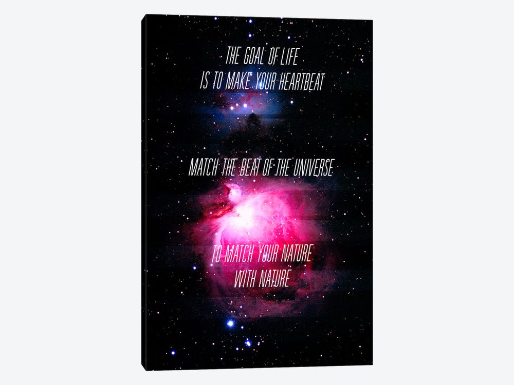 Heartbeat of the Universe by 5by5collective 1-piece Canvas Print