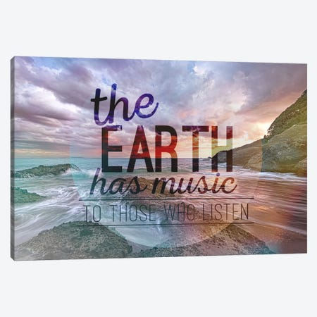 The Earth has Music Canvas Print #ILS18} by 5by5collective Canvas Artwork