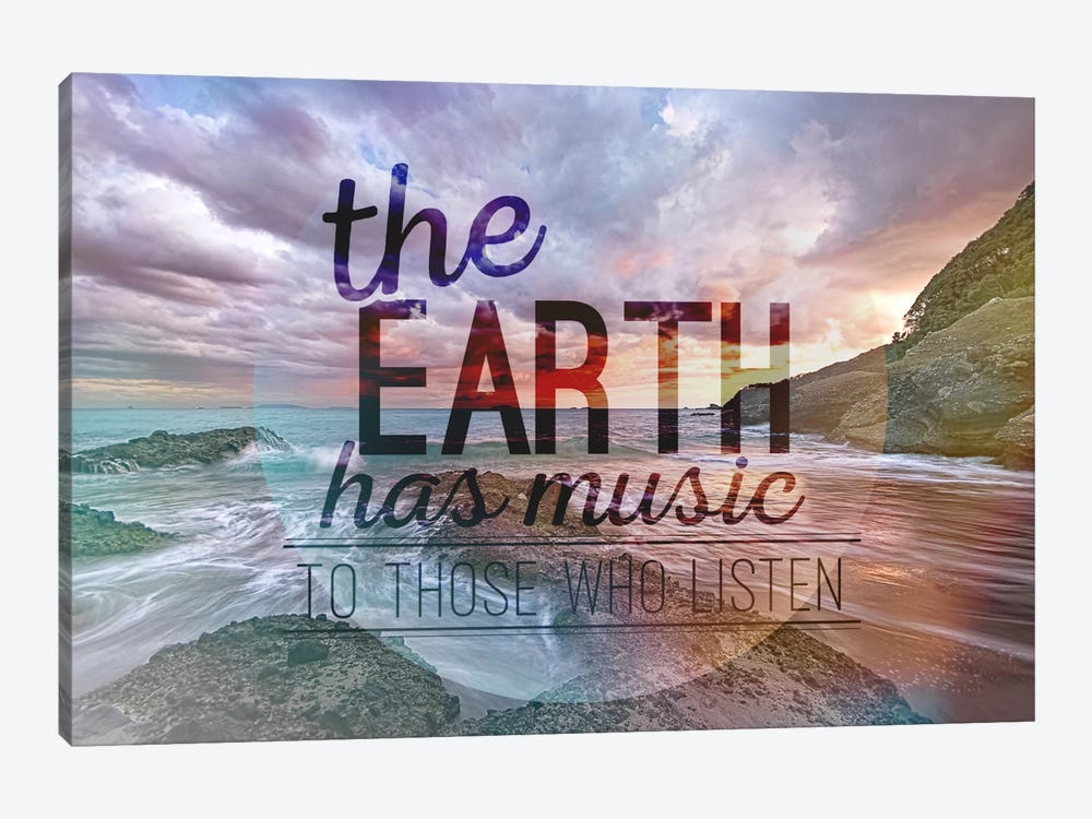 The Earth has Music by 5by5collective 1-piece Canvas Artwork