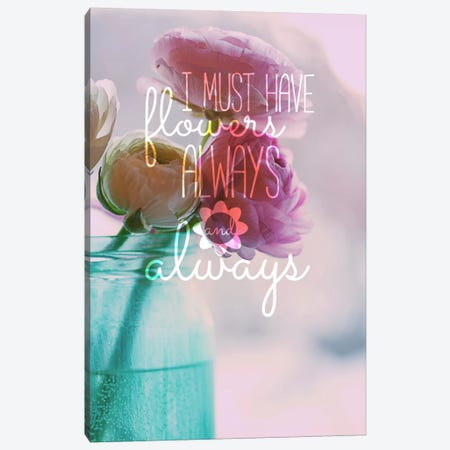Always Flowers Canvas Print #ILS19} by 5by5collective Canvas Art