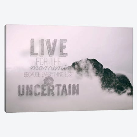 Live for the Moment Canvas Print #ILS1} by 5by5collective Art Print