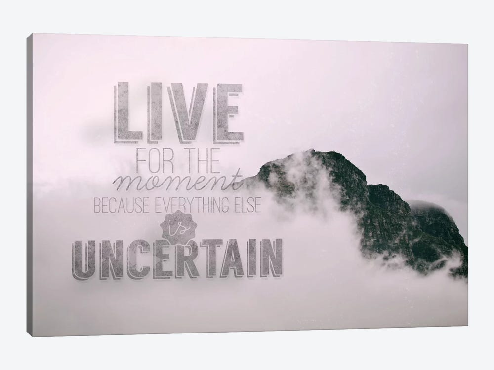 Live for the Moment by 5by5collective 1-piece Canvas Artwork