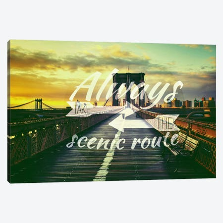 Take the Scenic Route Canvas Print #ILS22} by 5by5collective Art Print