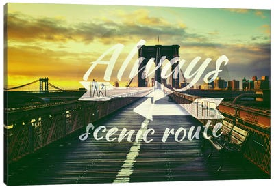 Take the Scenic Route Canvas Art Print