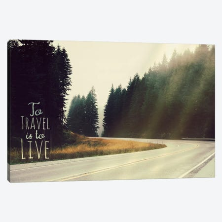 To Travel is to Live Canvas Print #ILS2} by 5by5collective Canvas Art Print