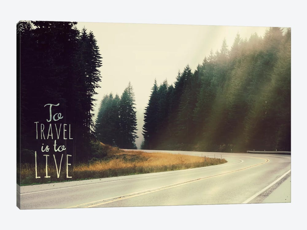 To Travel is to Live by 5by5collective 1-piece Canvas Print