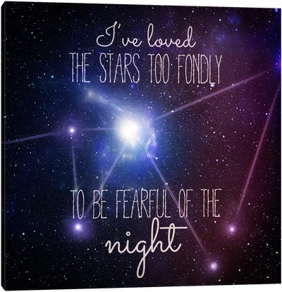 Loving the Stars Canvas Art Print